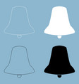 bell the black and white color icon vector image vector image