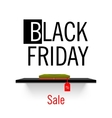 Black Friday sales Shelf store vector image vector image