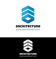 Blue architecture logo template vector image