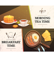 Breakfast Time Horizontal Banners vector image