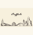buffalo skyline new york usa drawn sketch vector image vector image