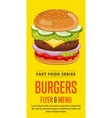 Burgers sale flyer vector image
