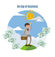 business investment concept vector image