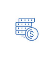 cashcoins line icon concept cashcoins flat vector image
