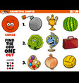 circle shape objects educational task for kids vector image vector image