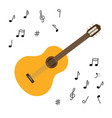 classical wooden guitar string plucked musical vector image vector image