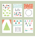 Collection of hand drawn creative journaling cards vector image