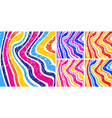 colorful striped background set textile pattern vector image