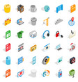 computer file icons set isometric style vector image vector image