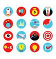 concept retro icon set business startup vector image vector image