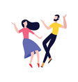 couple friends dancing flat vector image vector image