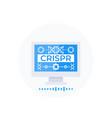 crispr genome editing technology vector image vector image