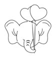 cute elephant with balloons air character icon vector image vector image