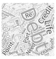debt consolidation loan online Word Cloud Concept vector image vector image