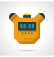 Digital stopwatch flat color design icon vector image