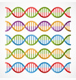 dna icons symbols for science and medicine vector image