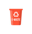 e-waste colorful recycle bin flat design vector image vector image