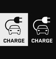 electric car charge icon vector image vector image