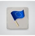 European Union flag icon vector image vector image