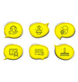 facts cleaning mop and brand ambassador icons set vector image vector image