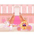 Fairytale pink carriage vector image vector image