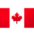 flag canada background vector image vector image