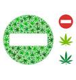 forbidden access collage of cannabis vector image