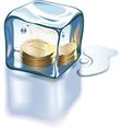 Frozen money vector image vector image