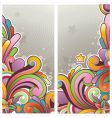 funky graphic banners vector image vector image