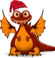 funny dragon santa vector image vector image