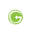 g go green logo letters logo and symbols template vector image