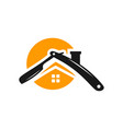 hair barber house logo vector image