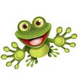 happy frog vector image vector image