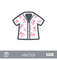 hawaiian shirt palm tree icon summer vacation vector image
