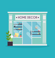 home decor facade decor shop ideal for market vector image vector image