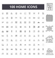 Home line icons signs set outline