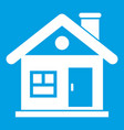 house icon white vector image vector image