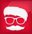 icon of a funny santa claus vector image vector image