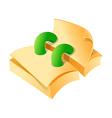 icon paper vector image vector image