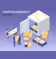 isometric cryptocurrency vector image vector image