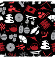 Japanese color icons seamless dark pattern eps10 vector image vector image