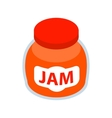 Jar of fruity jam icon isometric 3d style vector image