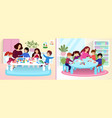 kids in art class children painting and sculpting vector image vector image