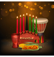 Kwanzaa Kinara Background Colorful Composition vector image vector image