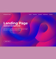 Landing page template abstract background with