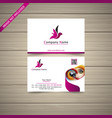 latest business card vector image vector image