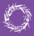 lavender flowers wreath frame bouquet element vector image vector image
