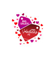 love happy valentines day template sale vector image
