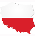 map poland with national flag vector image