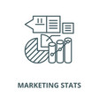 marketing stats line icon linear concept vector image vector image